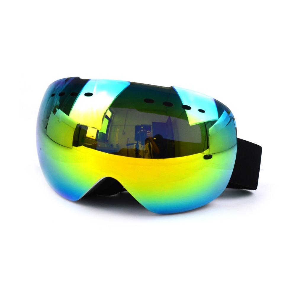 UV400 replaceable Snow goggle Anti fog mirror lens rimless snowboard ski goggles