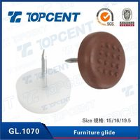Topcent hardware with iron foot pin metal chair glides