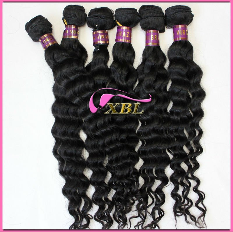 Hot !! wholesale cheap brazilian virgin humanhair extensions 120905 guangzhou xibolai hair