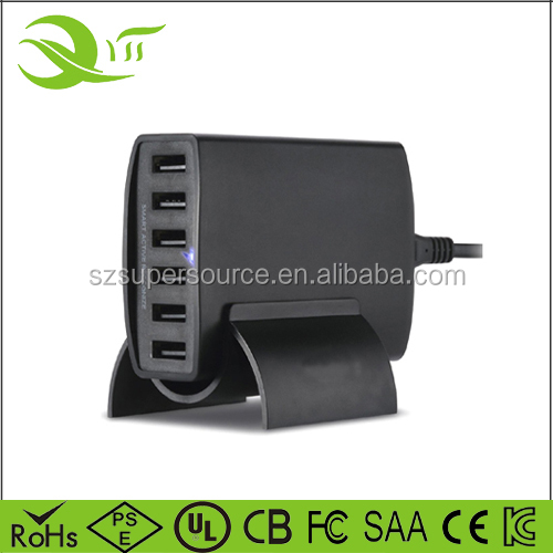 6port usb charger usb charging dock mobile table charger for Samsung Galaxy