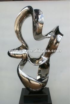 Hotel Stainless Steel Modern Polished Art Sculpture
