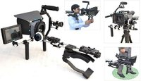 Proaim video shooting kit power splitter mattebox follow focus shoulder mount steady rig lcd monitor fr dslr hdv