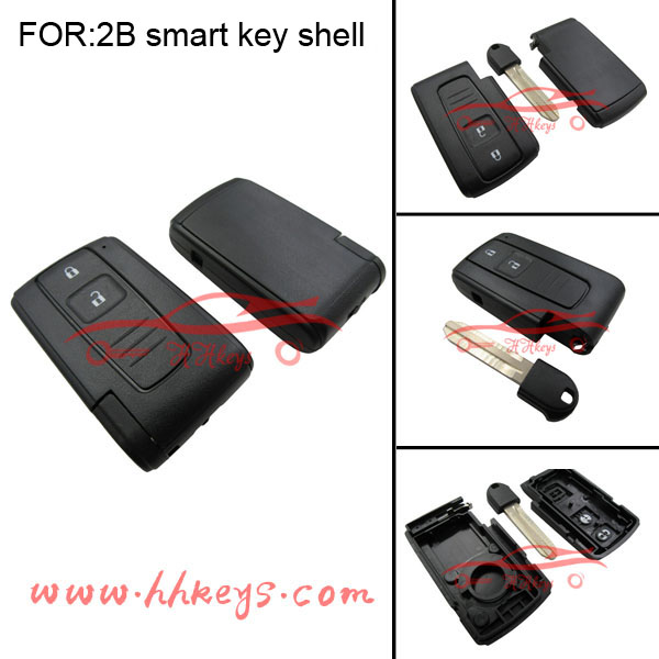 Smart remote key shell for 2buttons Toyota Crown blank key with blade