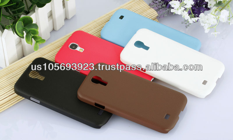 Luxuy Leather Coatting Hard Case Cover For Sunsung Galaxy S4 5 Colors