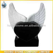 Granite Angel Wing Tombstone Monument