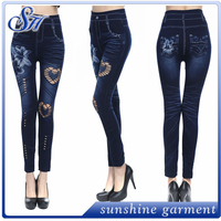 jegging legging supplex high waist elastic seamless thin women jeans wholesale