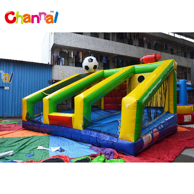 Wholesale Basketball hoop Football Baseball 3-in-1game Inflatable Sports Field