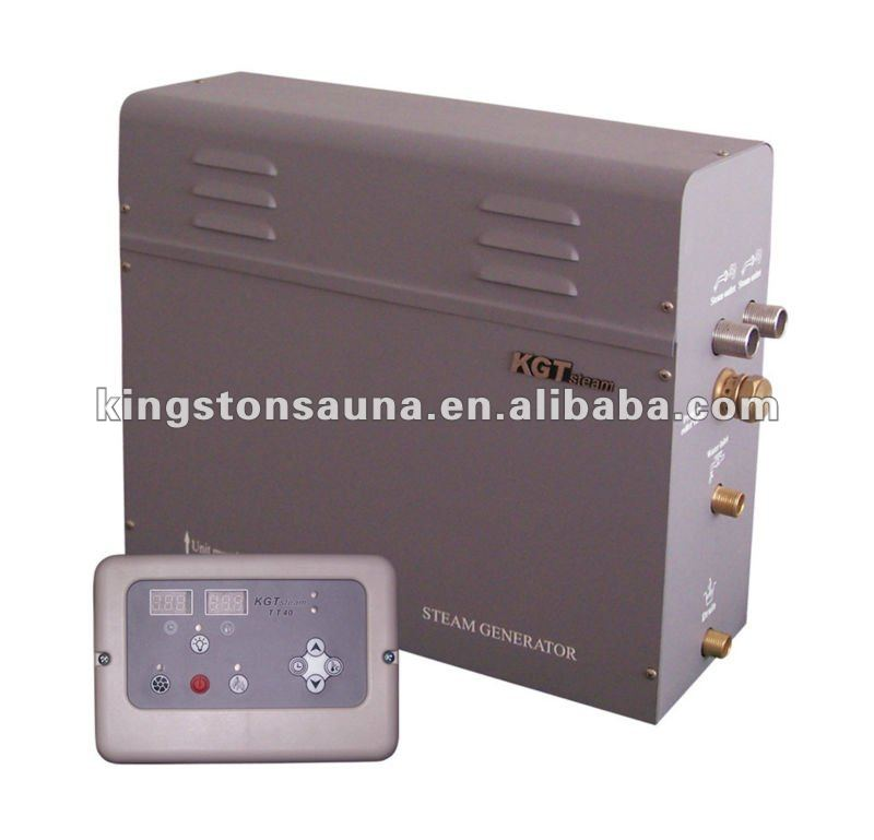 Powerful electric heating steam generator with lack of water protection