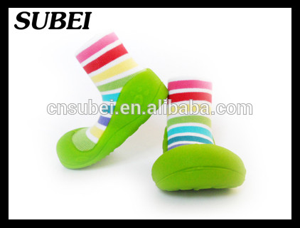anti slip baby shoe socks with rubber sole