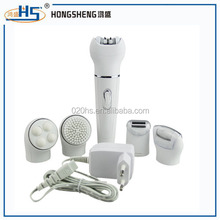 popular ce and rohs 5 in 1 electric foot callus remover with hair removal and facial cleansing brush