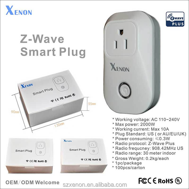 Xenon Z-wave App Control Voice Command Alexa Wifi Plug Socket 908.42 ...