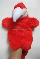 stuffed educated parrot toy hand puppet