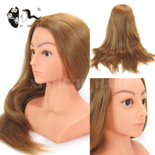 "22"" synthetic hair black cosmetology training mannequin head"