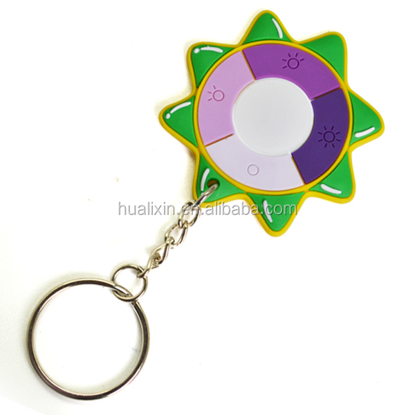 HLX Various Shape Fashionable Mini Keychain UV Tester with Changing Color
