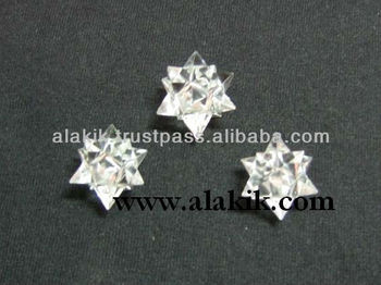 20-point Merkaba-Icosahedron Star in Clear Quartz