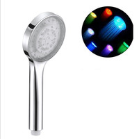 new design rainful muti color changing led shower head , hand shower