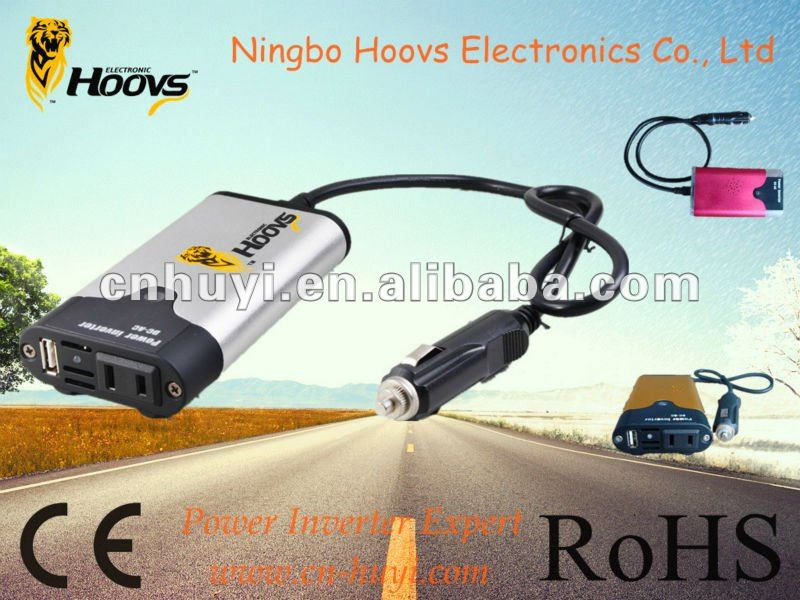 120w portable car power inverter dc ac