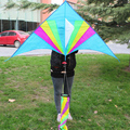 big delta rainbow kite with spinning tail for sale