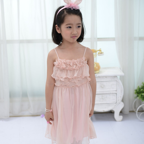 Flower sexy design kids beautiful model dresses