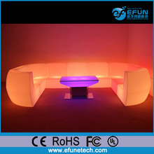 remote control modern design led illuminated light up inflatable sectional sofas for nightclub