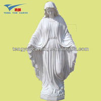 white marble madonna statue
