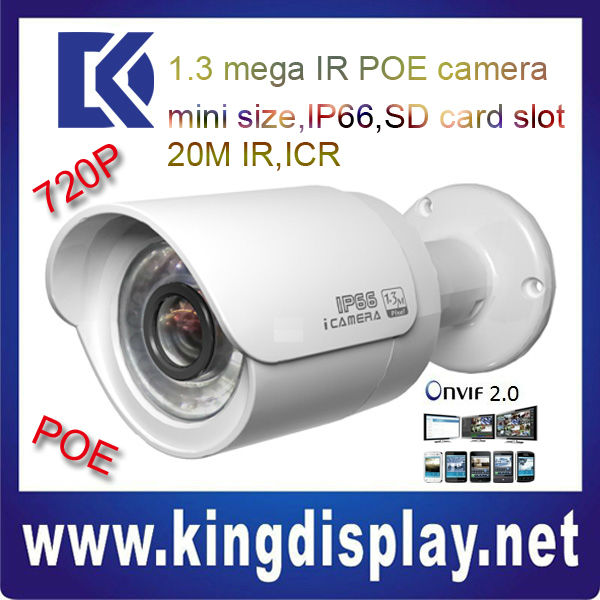 Dahua poe small ip camera security ipc-hfw2100 outdoor 1.3 megapixel ip66 network ip camera wide angle ip poe camera