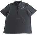 100% polyester gray t shirt polo customized