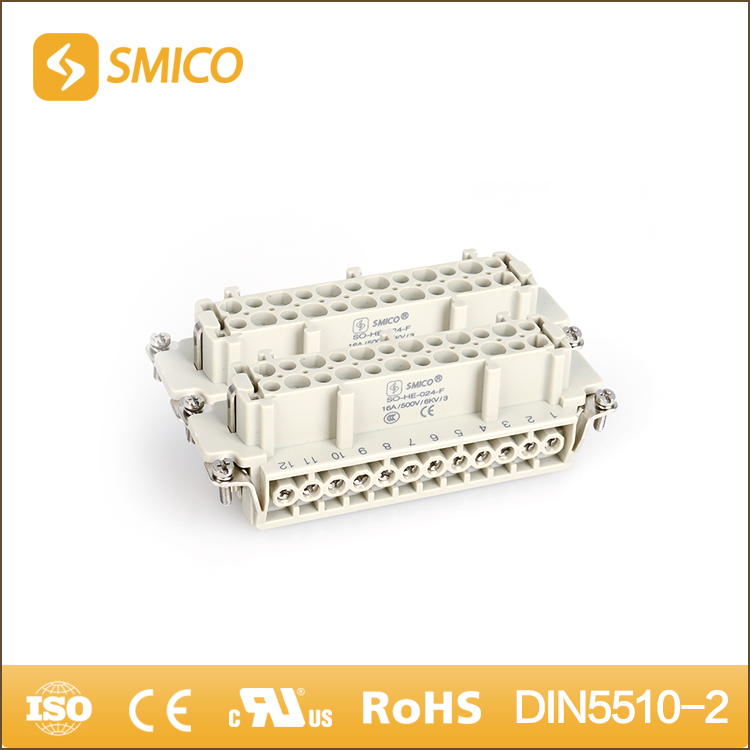 SMICO Shopping 16A 500V Heavy Duty 48 Pin Male And Female Electrical Connector
