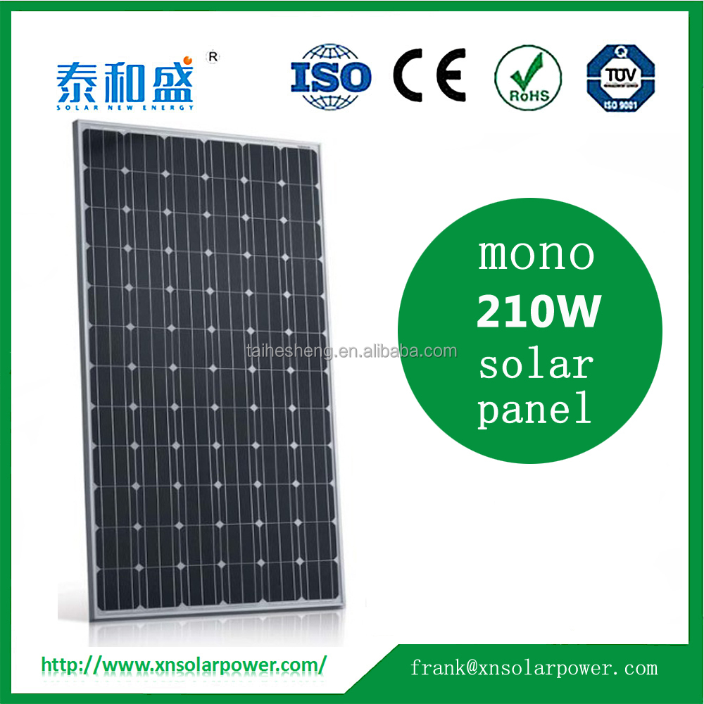 China manufacture PV mono 210W solar panels for sale