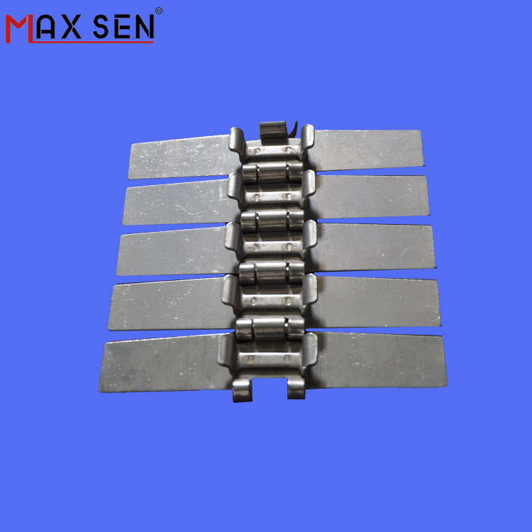 SS881TAB-K750 Stainless Steel Slat Chain Cheap Price Side Flexing Conveyor Chain