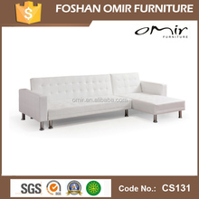 CS-131 white color faux leather sofa folding sofa bed
