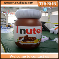 customized giant inflatable bottle inflatable chocolate sauce bottle for advertising