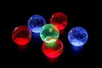 GLOW BALL NEON COLORS PARTY FAVORS LIGHT UP GLOW BOUNCE