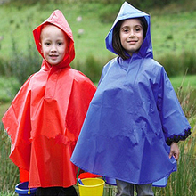 kids/adult size colorful 0.02mm PE/PVC raincoat/rain poncho with your logo