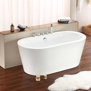 Oval Shaped Plastic Freestanding Bath Tub