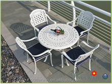 Used Garden Casting Garden Patio Outdoor Furniture Aluminum Table And Chair