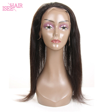 360 Lace Frontal Brazilian Straight Remy Hair Hair Closure with Lace Frontal