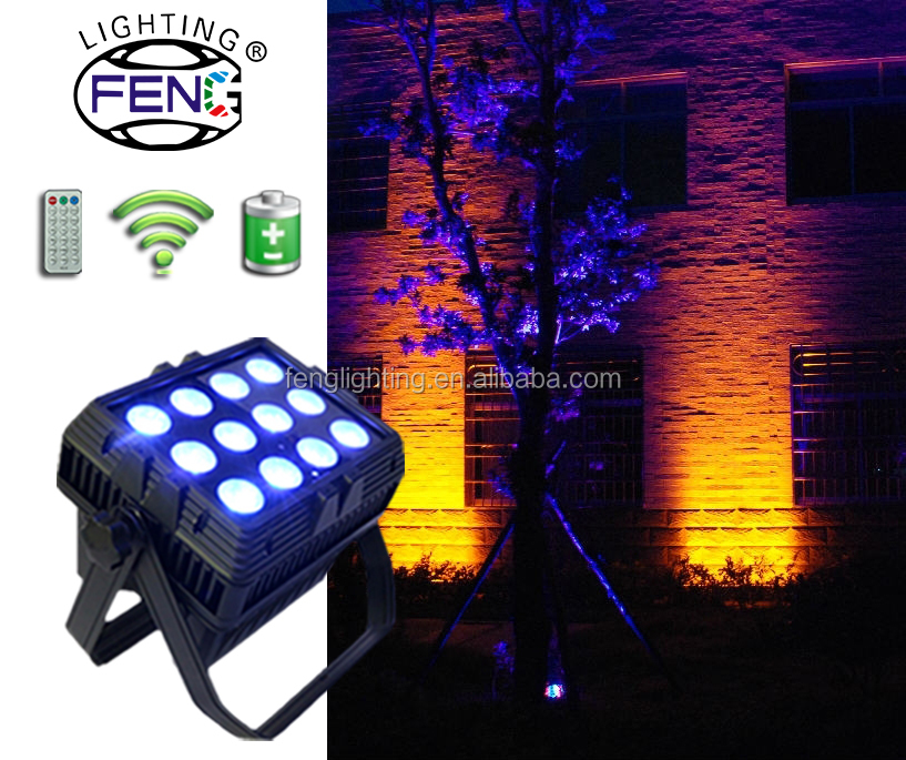 LED Christmas Light Show IR Remote Control Wireless DMX IP65 Waterproof Par Spotlight
