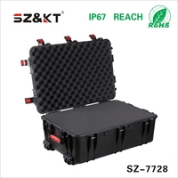 High quality plastic carrying case with wheels