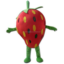 Plush material carnival strawberry costume lovely red adult strawberry costume for sale