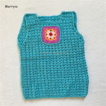Merryia Hand Knitted Toddler Baby Vest Kids Sleeveless Sweaters