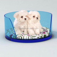 Modern luxury designer Pet Bed for small cats and teacup/toy breed dogs, High quality round acrylic pet bed