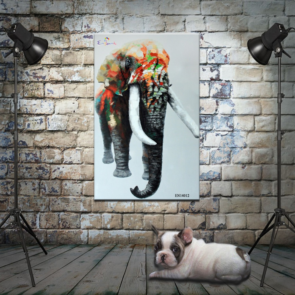 Dropship modern style elephant animal canvas base artworks