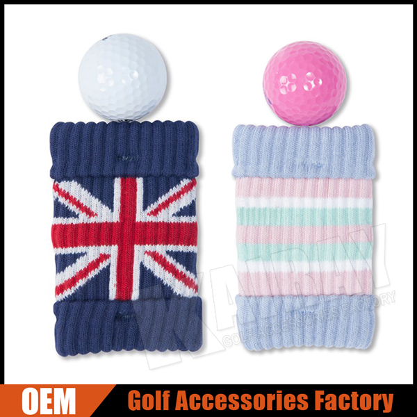 Custom Pocket Golf Ball Cleaning Club Cleaning Pouch With Holder