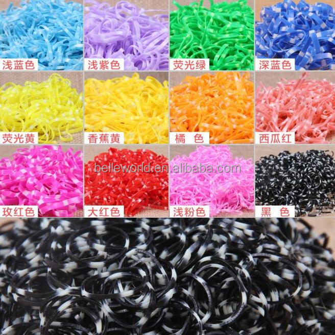 Colorful TPU Elastic rubber bands kids hair bands