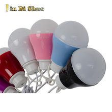 high quality 60mm 1.2meter wire led lighting bulb lamp 180 degree beam angle led lighting for emergency