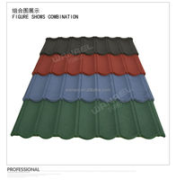 colorful stone coated metal maroon copper roofing tiles