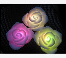 Elegant power small gift <strong>wedding</strong> decorative LED Rose light