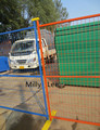 temporary fencing options for the construction industry painted safety for high visibility