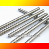 zinc plated stainless steel threaded rod